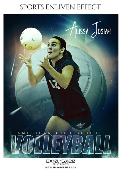Alissa Josiah Volleyball American High School Sports Template - Enliven Effects