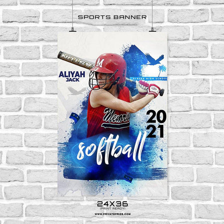 Aliyah-Jack - Softball Sports Banner Photoshop Template