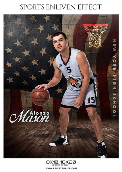 Alonzo-Mason - Basketball Sports Enliven Effect Photography Template