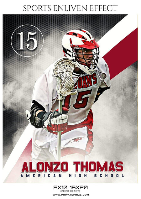 Alonzo Thomas - Lacrosse Sports Enliven Effects Photography Template