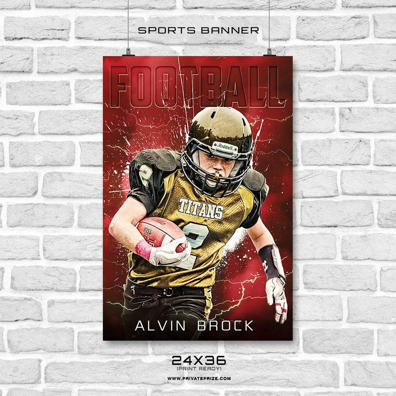 Alvin Brock - Football Enliven Effects Sports Banner Photoshop Template