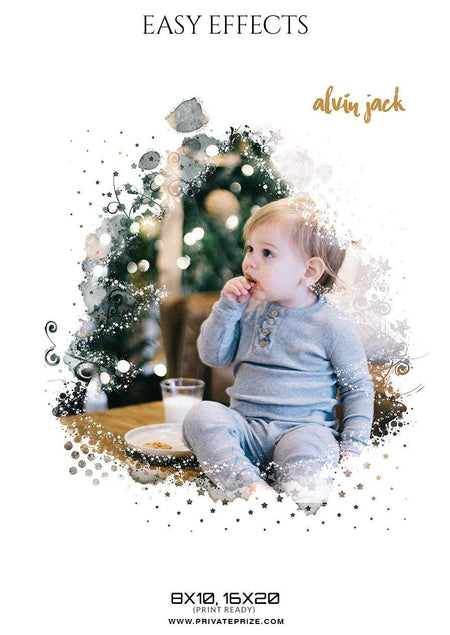 Alvin Jack - Christmas Easy Effect - PrivatePrize - Photography Templates