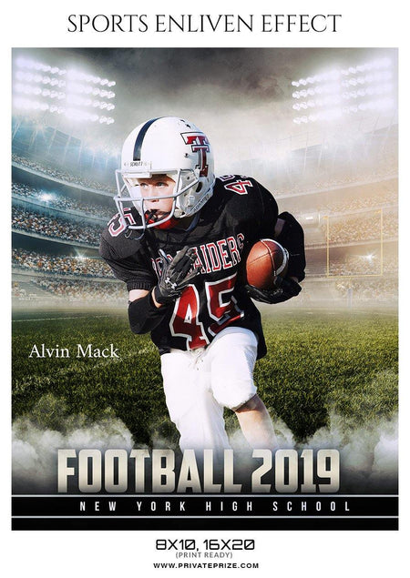 Alvin Mack - Football Sports Enliven Effect Photography Template - Photography Photoshop Template