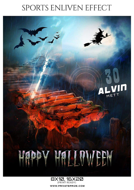 Alvin Mett - Football Halloween Template -  Enliven Effects - PrivatePrize - Photography Templates