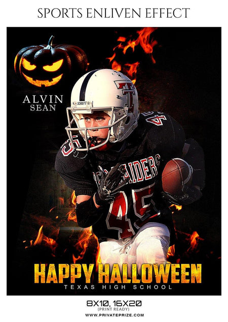 Alvin Sean - Football Halloween Template -  Enliven Effects - Photography Photoshop Template