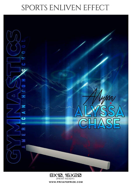 Alyssa Chase - Gymnastics Sports Enliven Effect Photography Template - Photography Photoshop Template