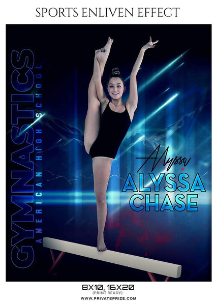 Alyssa Chase - Gymnastics Sports Enliven Effect Photography Template