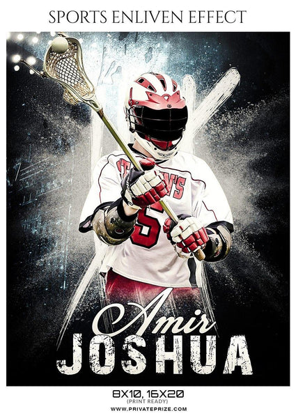 Amir Joshua - Lacrosse Sports Enliven Effects Photography Template