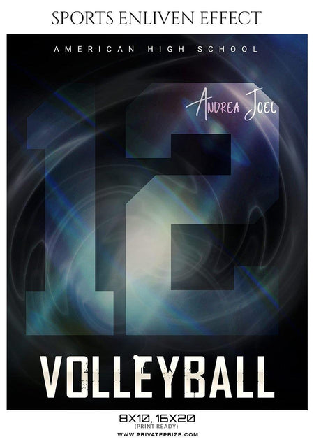 Andrea Joel - Volleyball Sports Enliven Effects Photography Template - Photography Photoshop Template