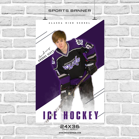 Andres Scott - Ice Hockey Sports Banner Photoshop Template