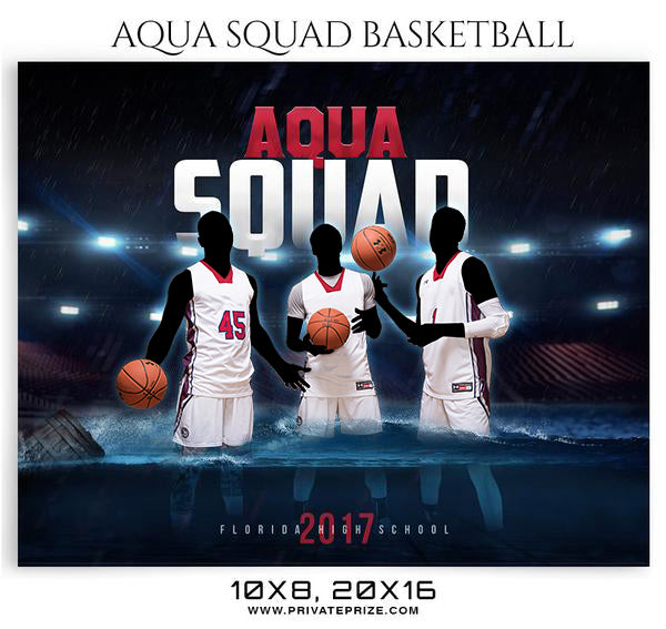 Aqua Squad-2018 Themed Sports Photography Template - Photography Photoshop Template