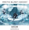 Arctic Blast Hockey Sports Photoshop Template - Photography Photoshop Template