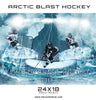 UNLOCKED- Arctic Blast Hockey Sports Photoshop Template - Photography Photoshop Template