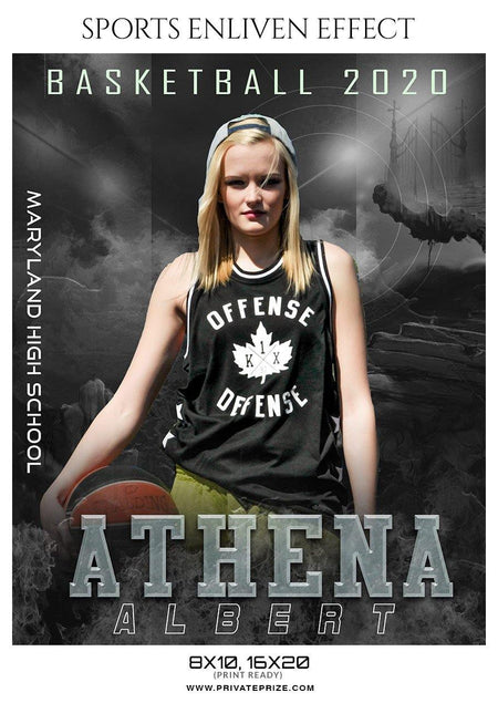 Athena Albert - Basketball Sports Enliven Effect Photography Template