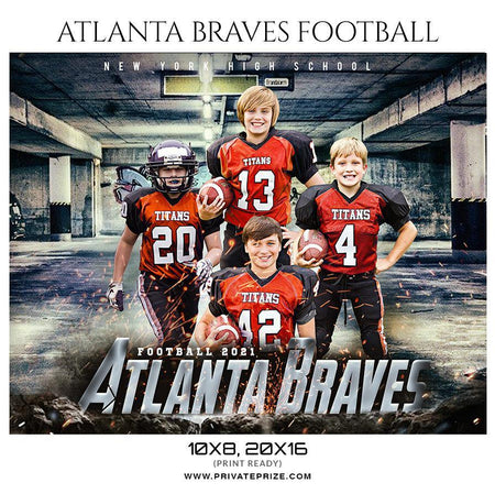 Atlanta Braves Football - Sports Theme Sports Photography Template - PrivatePrize - Photography Templates