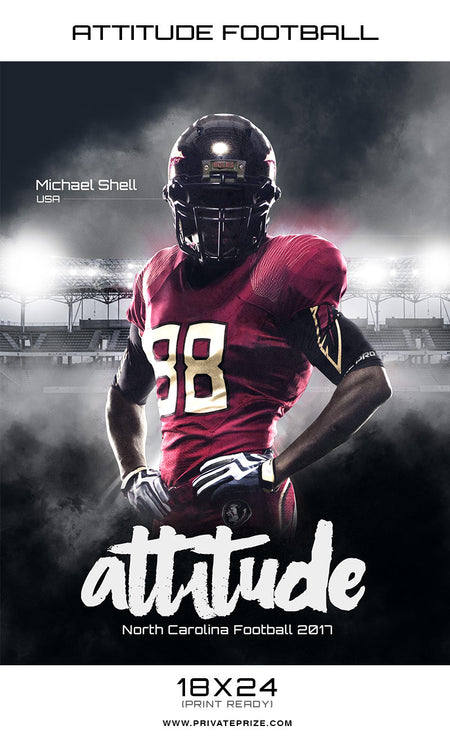 Attitude Sports - Enliven Effects Photography template - Photography Photoshop Template