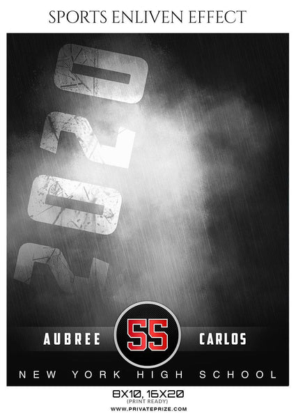 Aubree Carlos - Softball Sports Enliven Effect Photography template