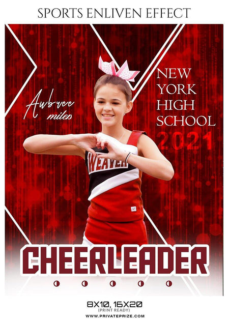 Aubree Miles - Cheerleader Sports Photography Template