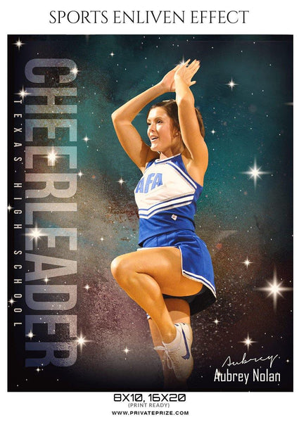 Aubrey Nolan - Cheerleader Sports Photography Template