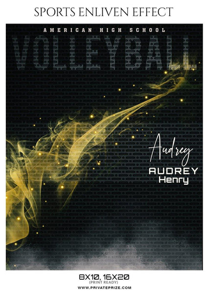 Audrey Henry -  VolleyBall Sports Enliven Effects Photography Template
