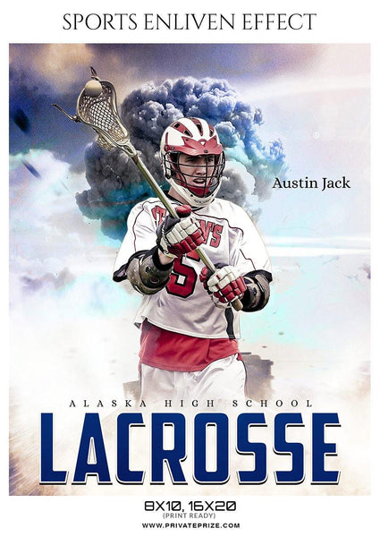 Austin Jack - Lacrosse Sports Enliven Effects Photography Template