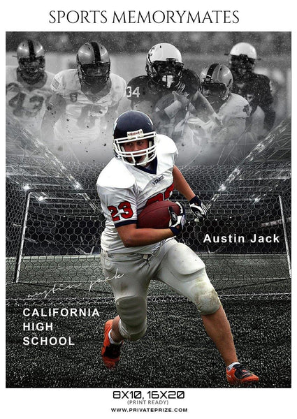 Austin Jack - Football Memory Mate Photoshop Template