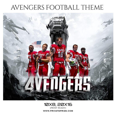 Avengers - Football Themed Sports Photography Template
