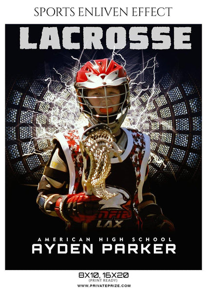 Ayden Parker - Lacrosse Sports Enliven Effects Photography Template