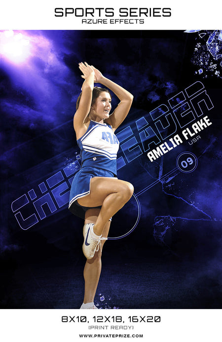 Cheerleader -Sports Series Azure Effect - Photography Photoshop Template