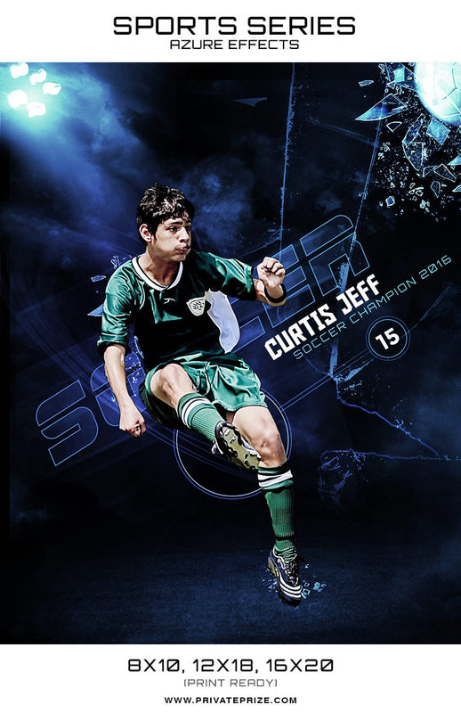 Soccer-Sports Series Azure Effect - Photography Photoshop Templates