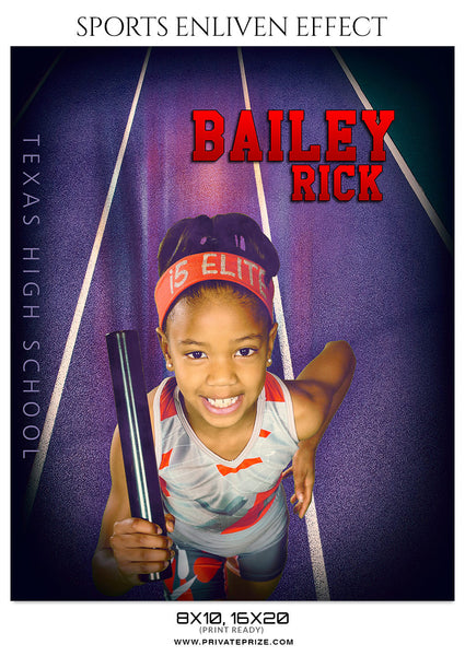 BAILEY RICK-ATHLETICS- SPORTS ENLIVEN EFFECTS - Photography Photoshop Template
