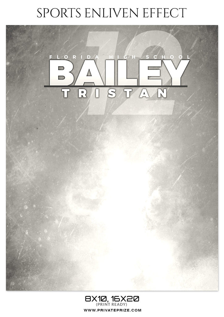 Bailey Tristan Volleyball - Sports Enliven Effect Photoshop Template