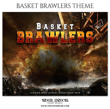 Basket Brawlers - Theme Sports Photography Template - Photography Photoshop Template