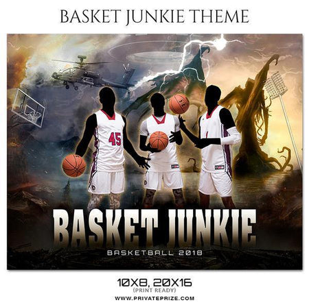 Basket Jukie - Basketball Theme Sports Photography Template - Photography Photoshop Template