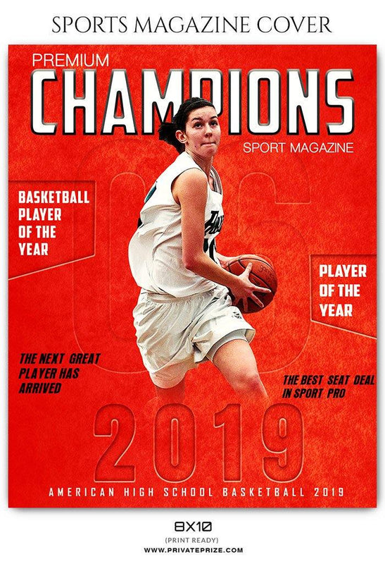 Basketball Sports Photography Magazine Cover - Photography Photoshop Template