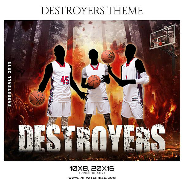 Basketball Destroyer Theme Sports Photography Template