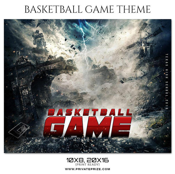 Basketball Game - Theme Sports Photography Template - Photography Photoshop Template