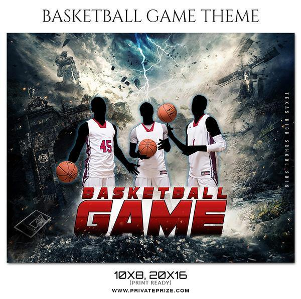 Basketball Game - Theme Sports Photography Template