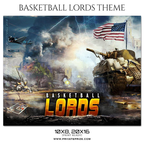 Basketball Lords - Theme Sports Photography Template - Photography Photoshop Template