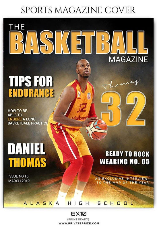 Basketball - Sports Photography Magazine Cover templates