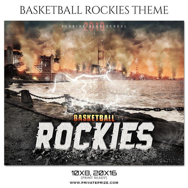 Basketball Rockies - Basketball Theme Sports Photography Template - Photography Photoshop Template