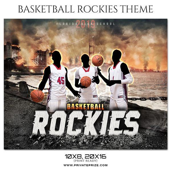 Basketball Rockies - Basketball Theme Sports Photography Template