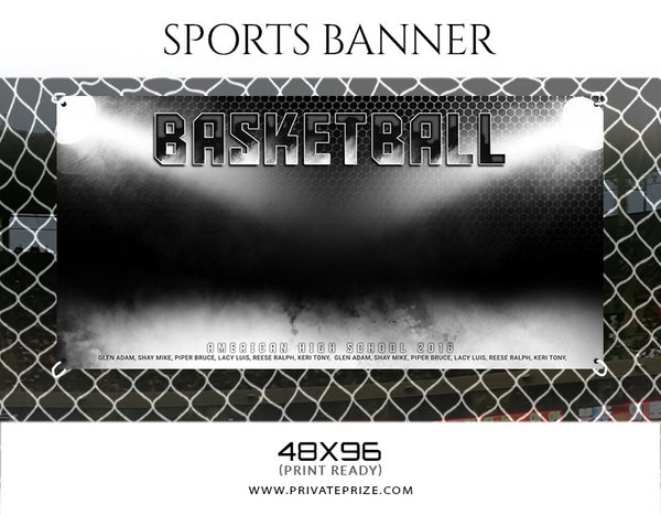 Basketball-48X96-Enliven Effects Sports Banner Photoshop Template