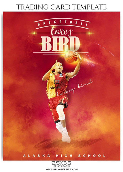 Basketball Sports Trading Card Photoshop Template