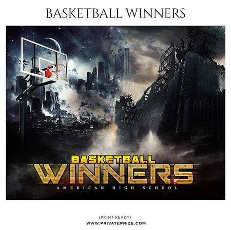 Basketball Winners - Themed Sports Photography Template