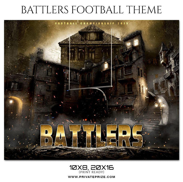Battlers - Football Themed Sports Photography Template - Photography Photoshop Template