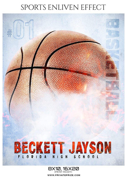 Beckett Jayson - Basketball Sports Enliven Effects Photography Template