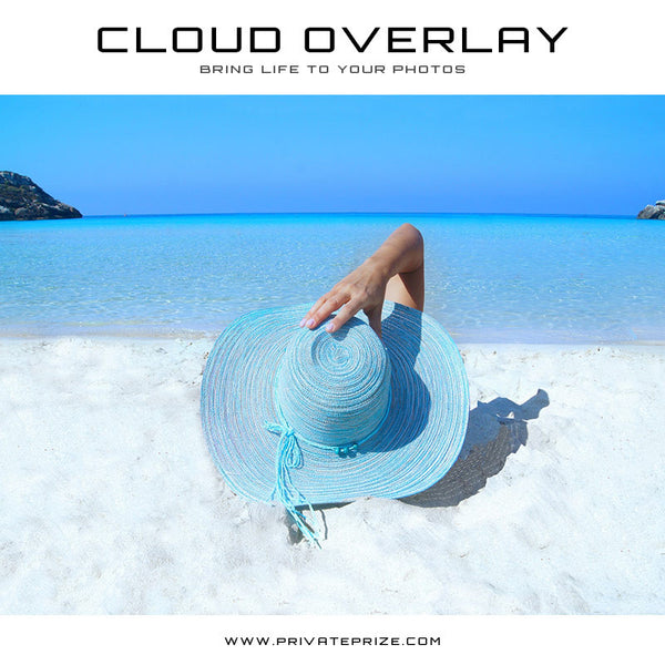 Cloud Overlay - Beach Sun - Photography Photoshop Templates