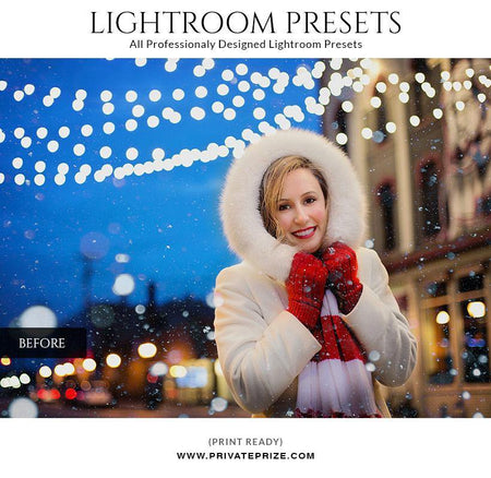 Chrismas warm color fade - LightRoom Presets Set - Photography Photoshop Template