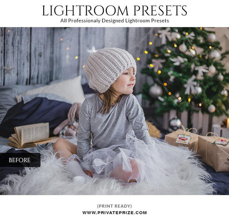 Christmas cool shine - LightRoom Presets Set - Photography Photoshop Template